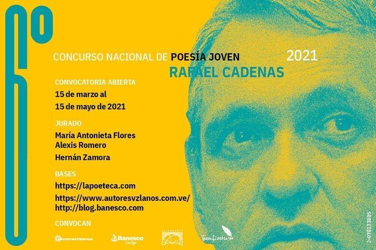 6º Concurso Nacional de Poesía Joven Rafael Cadenas 2021