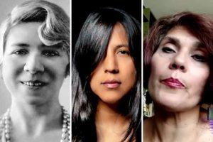 Alfonsina Storni, Gabriela Wiener y Rosa Elena Pérez Mendoza
