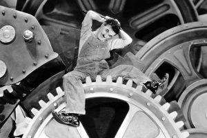 """Fotograma de """"Tiempos modernos"""" (1936), de Charles Chaplin"""