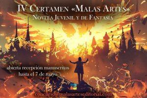 "IV Certamen ""Malas Artes"" de Novela Juvenil y de Fantasía"