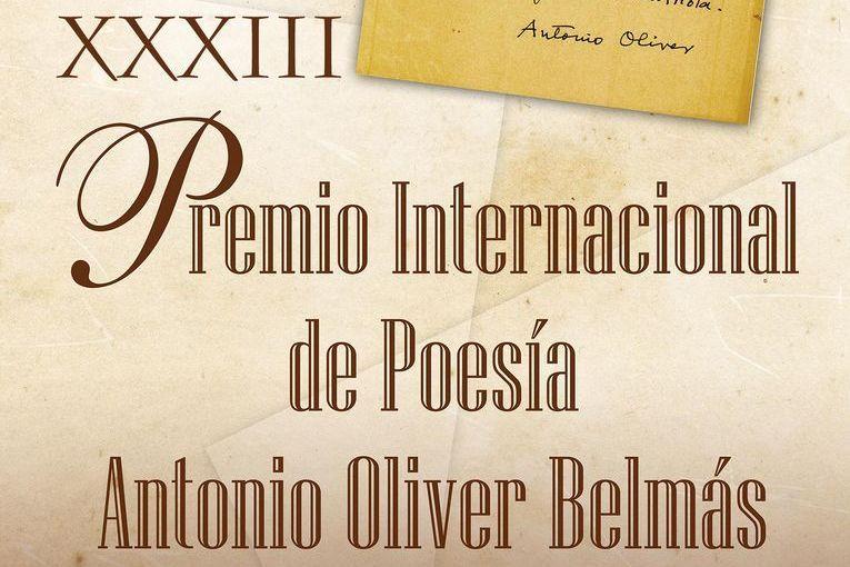 XXXV Premio Internacional de Poesía Antonio Oliver Belmás