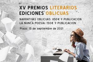 XV Premios Literarios Ediciones Oblicuas