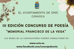 """III Concurso de Poesía """"Memorial Francisco de la Vega"""""""