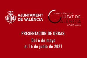 XXXIX Premios Literarios Ciutat de València 2021