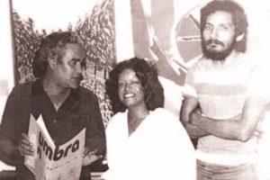 Denzil Romero, Agustina Ramos y Alberto Hernández