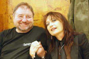 Paola Tagliaferro y Greg Lake