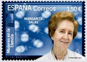 Sello dedicado a Margarita Salas