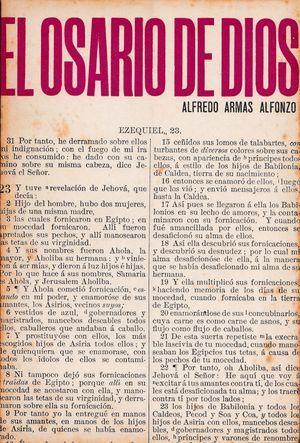 """""""El osario de Dios"""", de Alfredo Armas Alfonzo"""