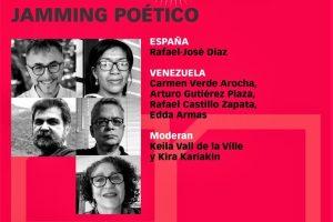 Jamming Poético de agosto de 2021: Rafael-José Díaz, Carmen Verde Arocha, Arturo Gutiérrez Plaza, Rafael Castillo Zapata y Edda Armas