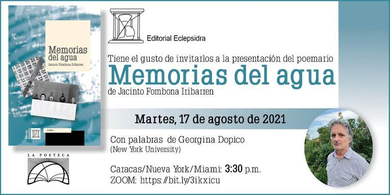 """Memorias del agua"", de Jacinto Fombona Iribarren"