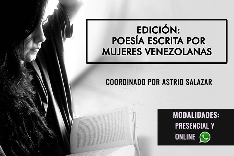 Este club de lectura estará dedicado a seis poetas venezolanas y será virtual y presencial