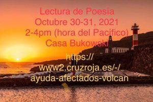 Lecturas de poesía en favor de los afectados por volcán de La Palma