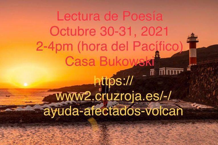 Dos lecturas de poesía buscarán apoyo para afectados por erupción volcánica en La Palma